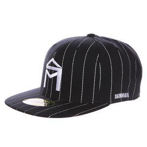 Бейсболка с прямым козырьком  Og Logo New Era Black/White Sk8mafia. Цвет: черный,белый