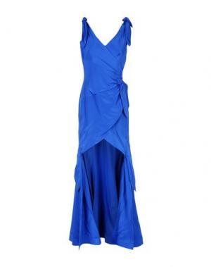 Длинное платье MOSCHINO. Цвет: ярко-синий