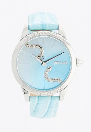 Часы Just Cavalli. Цвет: голубой