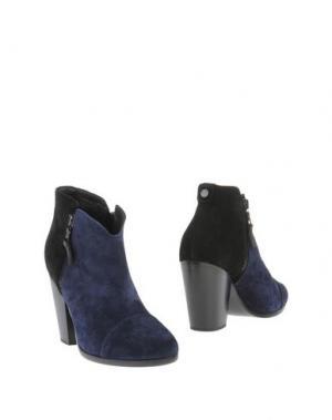 Полусапоги и высокие ботинки RAG & BONE. Цвет: темно-синий