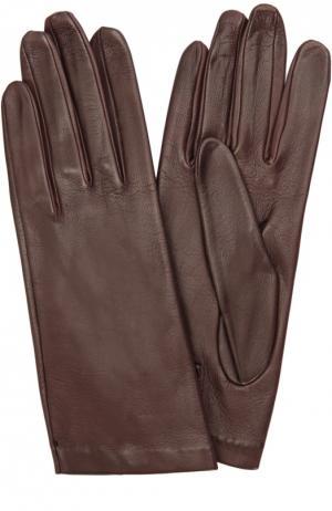 Кожаные перчатки с подкладкой из шелка Sermoneta Gloves. Цвет: бордовый