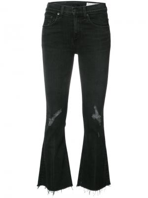 Укороченные расклешенные брюки Rag & Bone /Jean. Цвет: чёрный