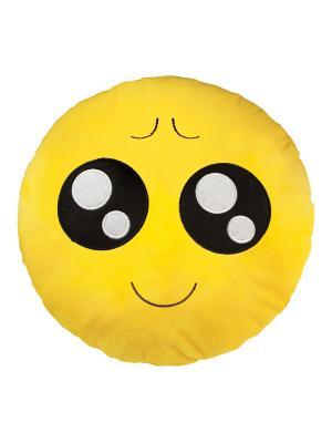 Большая подушка-смайлик Ну пожалуйста 35 см SOXshop. Цвет: желтый