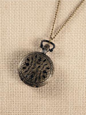 Кулон-часы Замысловатый узор Mitya Veselkov. Цвет: бронзовый
