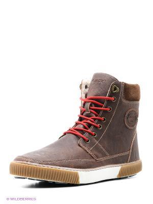 Ботинки HI-TEC. Цвет: коричневый