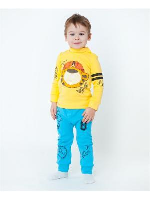 Комплект одежды VATAGA. Цвет: желтый, бирюзовый