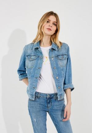 Куртка джинсовая Boss Hugo. Цвет: голубой