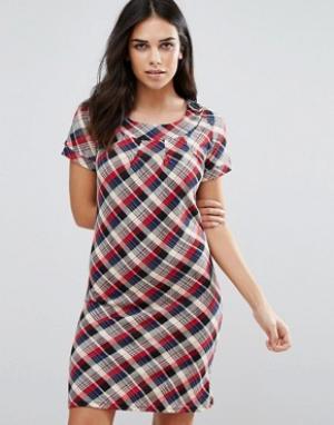 Jasmine Платье-рубашка в клетку. Цвет: красный