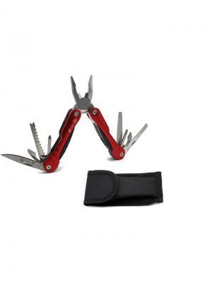 Мультитул  10 инструментов Stinger. Цвет: светло-серый, красный