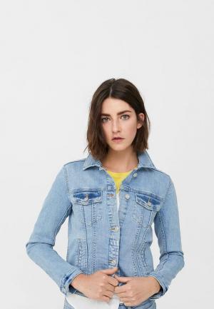 Куртка джинсовая Mango. Цвет: голубой