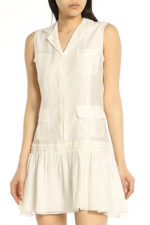 Летнее платье на пуговицах ERMANNO BY SCERVINO. Цвет: 002 white