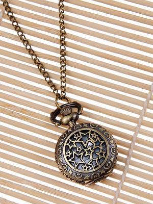 Кулон-часы Медальон с звездами Mitya Veselkov. Цвет: бронзовый
