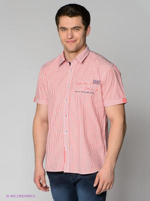 Рубашка MILANO ITALY. Цвет: белый, красный