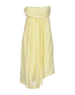 Короткое платье E-GÓ. Цвет: светло-желтый