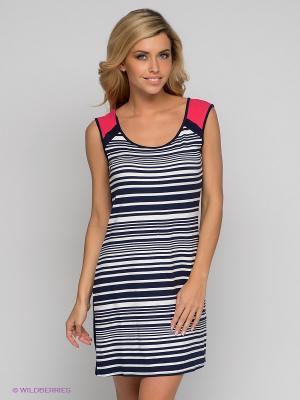 Платье HAYS. Цвет: темно-синий, белый