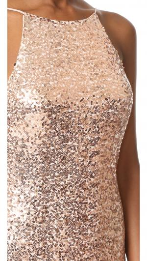 Cowl Back Sequin Gown Badgley Mischka Collection