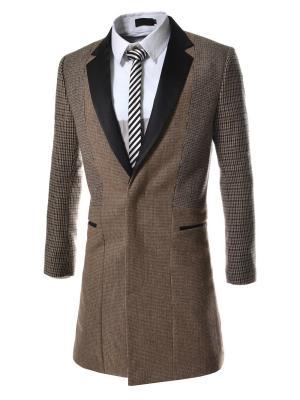 Пальто VipDressCode. Цвет: коричневый