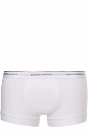 Хлопковые боксеры с широкой резинкой Dsquared2. Цвет: белый