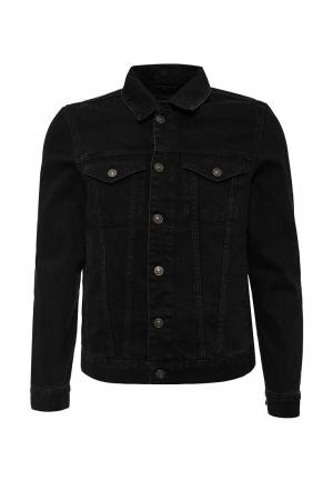 Куртка джинсовая River Island. Цвет: черный