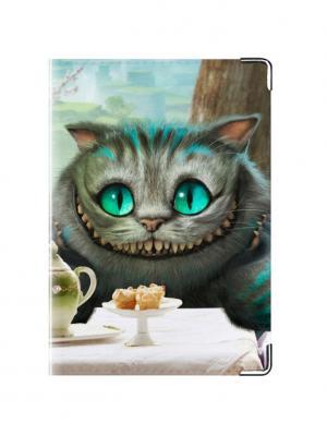Обложка для паспорта Чеширский кот Tina Bolotina. Цвет: синий, морская волна, голубой