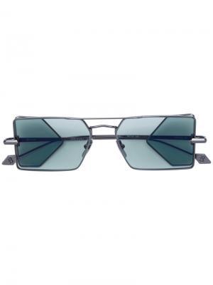 Солнцезащитные очки с квадратной оправой Brioni. Цвет: металлический