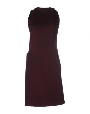 Короткое платье WALTER VOULAZ. Цвет: красно-коричневый