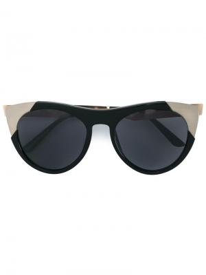 Солнцезащитные очки Zoubisou Smoke X Mirrors. Цвет: чёрный