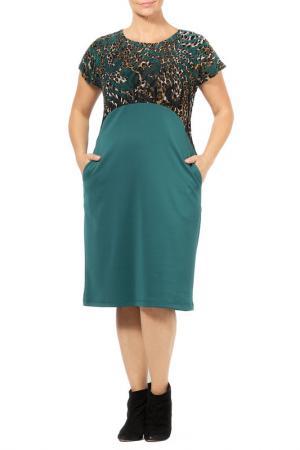 Платье Zedd Plus. Цвет: green