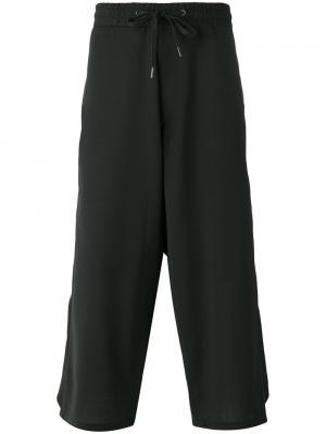 Cropped layered trousers D.Gnak. Цвет: чёрный