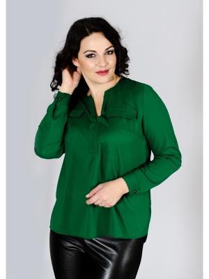 Блузка Лагуна. Цвет: темно-зеленый