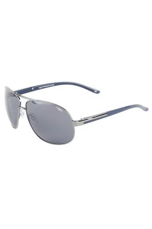 Солнцезащитные очки Legna. Цвет: темно-серый, синий
