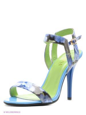 Босоножки MILANA. Цвет: голубой, белый, зеленый