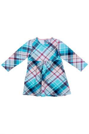 Платье PlayToday. Цвет: голубой, розовый, белый, серый