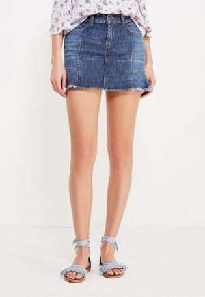 Юбка джинсовая Jennyfer. Цвет: синий