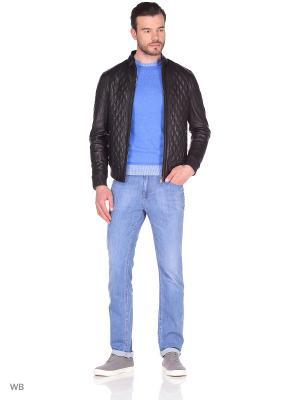 Стеганая кожаная куртка MONDIAL. Цвет: черный