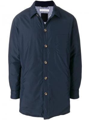 Стеганое пальто Tatras. Цвет: синий