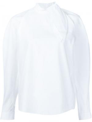 Блузка с закругленным подолом Delpozo. Цвет: белый