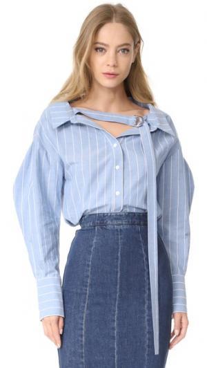 Рубашка Rosa Rejina Pyo. Цвет: голубая полоска