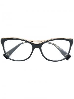 Очки в оправе кошачий глаз с металлической деталью Marc Jacobs Eyewear. Цвет: чёрный