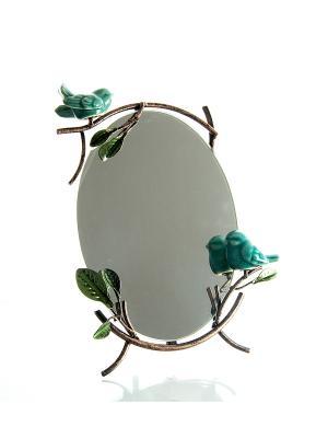 Зеркало Прованс Русские подарки. Цвет: зеленый