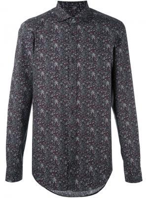 Рубашка с цветочным принтом Z Zegna. Цвет: многоцветный