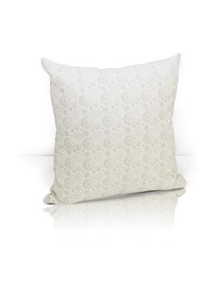 Декоративная подушка Jaffna Kauffort. Цвет: светло-серый, бежевый, кремовый