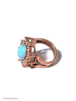 Кольцо Jenavi. Цвет: бронзовый, голубой