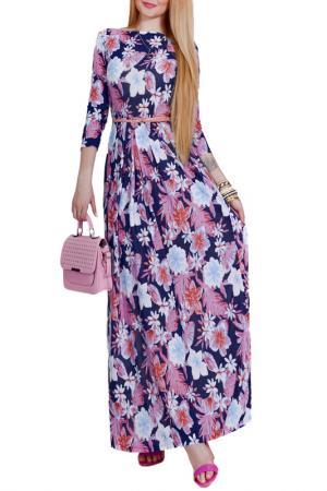 Платье Patricia B.. Цвет: сиреневые, голубые цветы