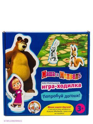 Настольная игра-ходилка Маша и медведь. Цвет: синий