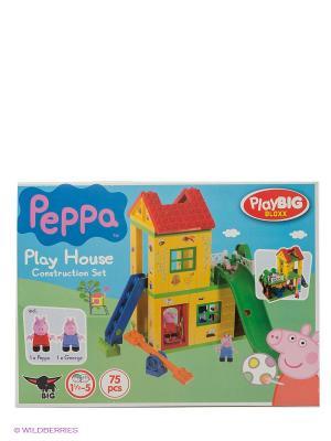 Конструктор игровая площадка Peppa Pig BIG. Цвет: розовый, зеленый
