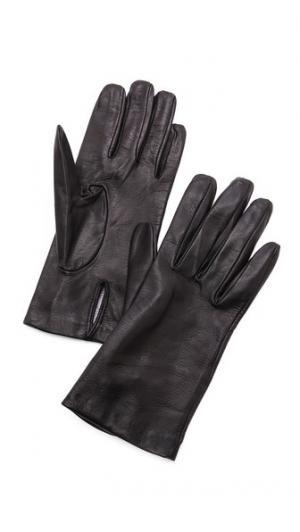 Полностью кожаные перчатки Carolina Amato. Цвет: голубой