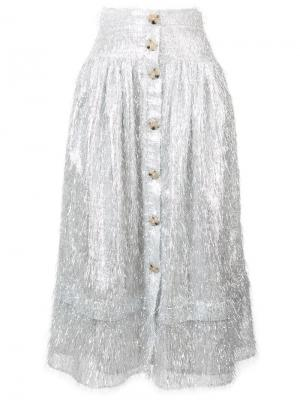 Midi full skirt Rejina Pyo. Цвет: металлический