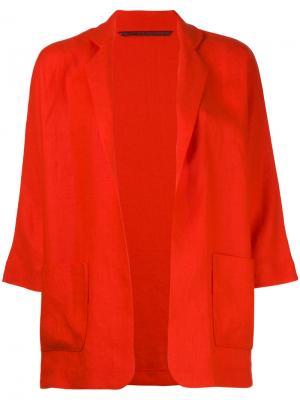 Open-front blazer Daniela Gregis. Цвет: красный