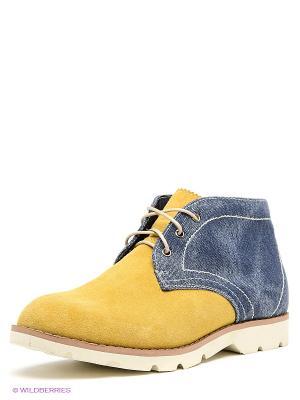 Ботинки Tesoro. Цвет: желтый, синий